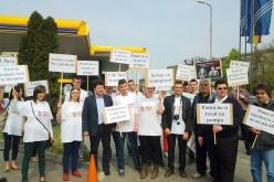 PDL-tüntetés az üzemanyag drágítása ellen