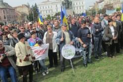 Közel ezren tüntettek Aradon a palagáz ellen: Kisiratos az élen