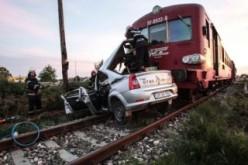 Lippai taxis vonattal ütközött