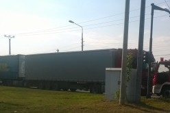 Három kamion ütközött Gájban