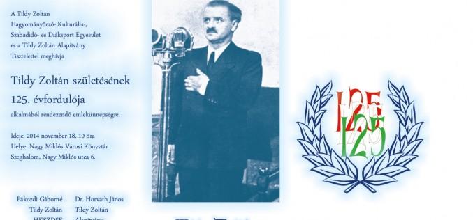 Tildy Zoltán emlékünnepség