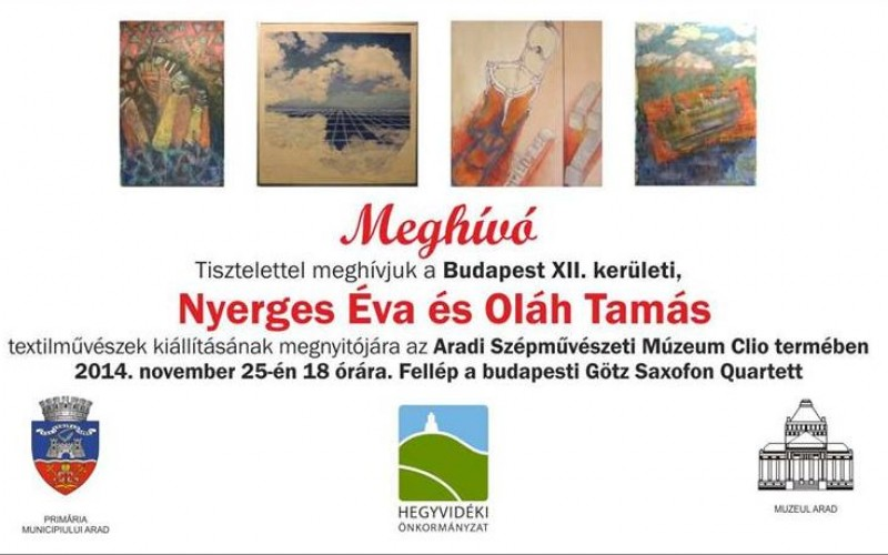 Budapesti textilművészek kiállítása Aradon