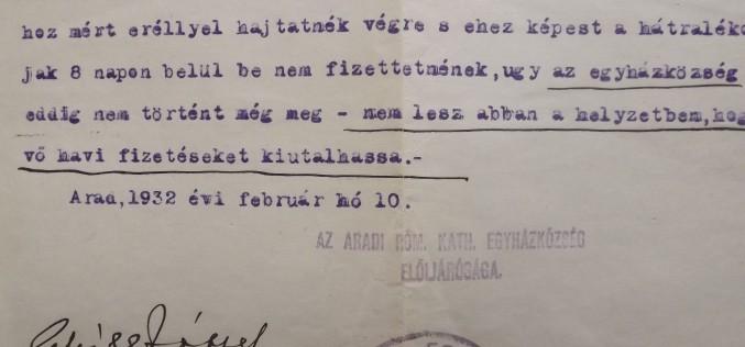 Levéltári lapozó: egyházi ultimátum Fischer Aladár igazgatónak