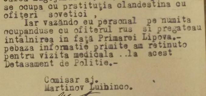Levéltári lapozó: hadiprostitúció Lippán szovjet tisztekkel