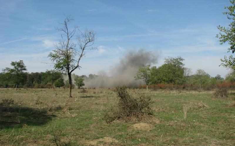 Tankelhárító aknára bukkant a földjén