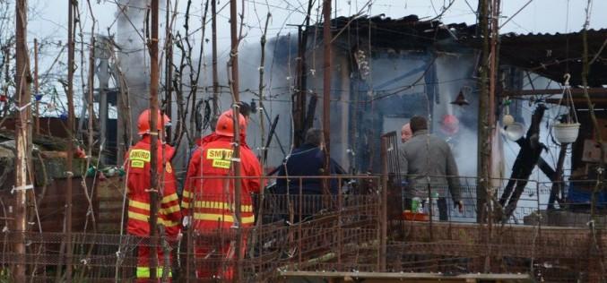 Kigyulladt egy melléképület Mosóczon