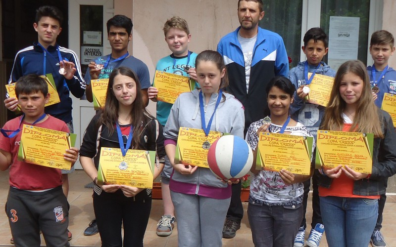 Sportos erdőhegyi diákok