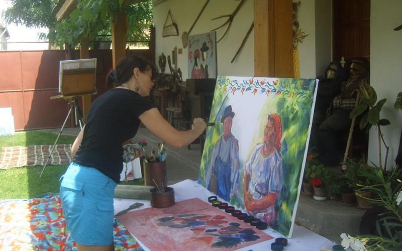 Képzőművészek leruccanása Tornyára