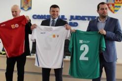 Mezeket, focilabdákat osztogatott a megyei tanács