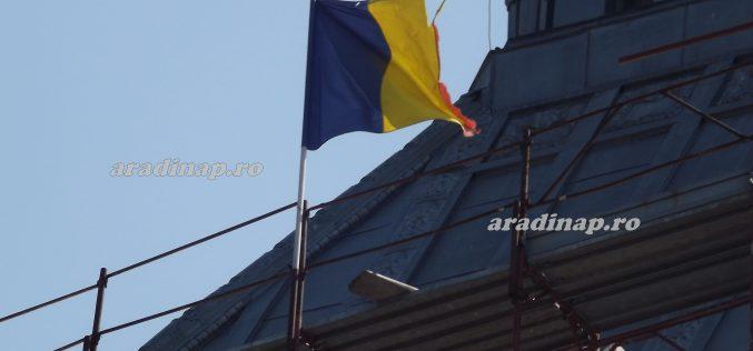 """""""Ukránosodott"""" zászló leng a Kultúrpalotán"""