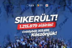 Siker: 303 695 aláírás gyűlt Romániában
