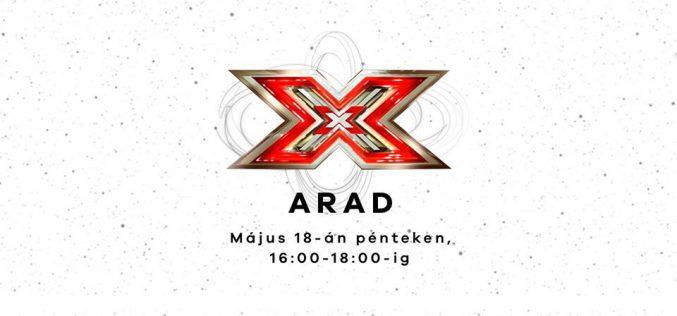 Az X-Faktor stábja meghallgatást tart Aradon