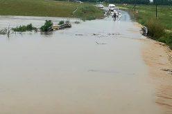 Beszakadt egy megyei út
