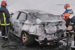 Kigyulladt egy autó Tornyánál