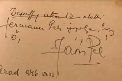 Jávor Pál bejegyzése egy fiatal aradi lány emlékkönyvébe