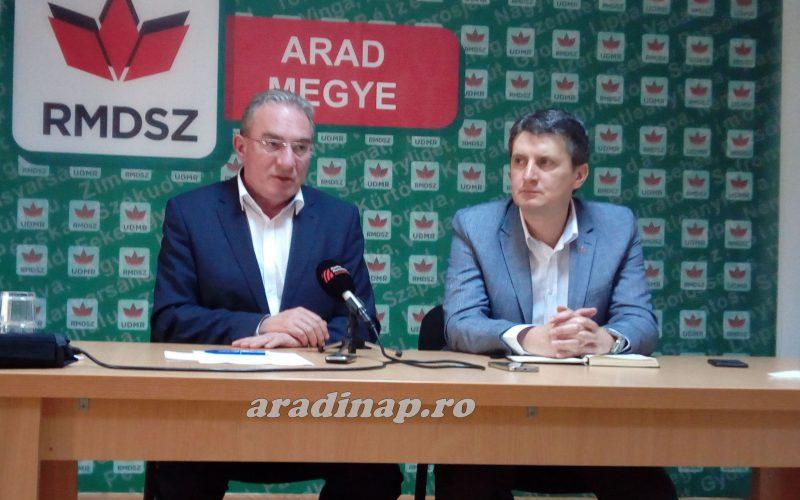 Winkler Gyula Arad megyében zárókampányol