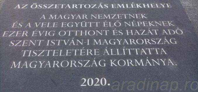Az Öszetartozás emlékhelye: megkerestük Aradot