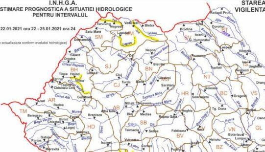 Sárga árvízriasztás a Fekete-Körösön