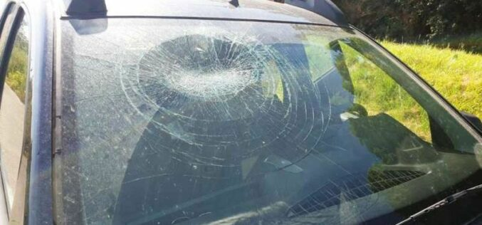Üveggel törte be a környezetvédők gépkocsijának szélvédőjét