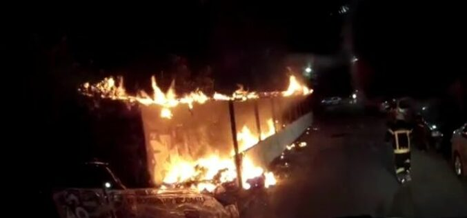 Valaki(k) szándékosan felgyújtottak egy bútorraktárt