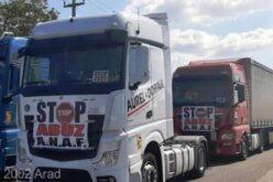 Tüntettek a kamionosok a körgyűrűn